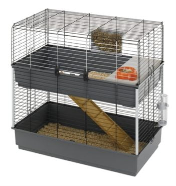 Ferplast konijnenkooi rabbit 100 dubbel grijs