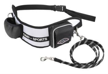 D&d hondenriem sports walker reflecterend wit / zwart