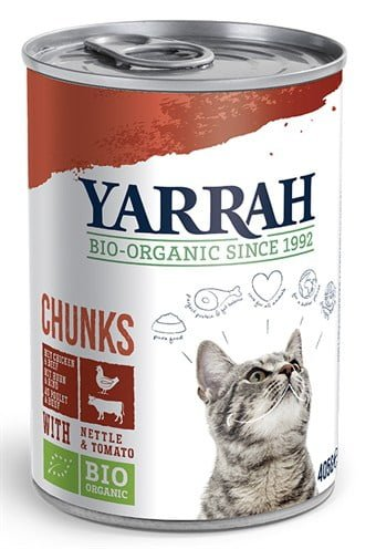 Yarrah cat blik brokjes kip/rund in saus
