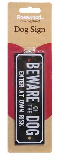 Beware of the dog waakbordje