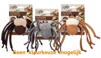 Afp ping pong spider lamswol met catnip assorti