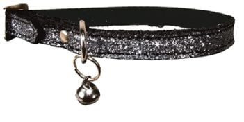 Bobby kattenhalsband glitter zilver