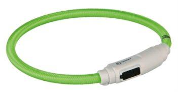 Trixie halsband kat flash light lichtgevend usb oplaadbaar groen