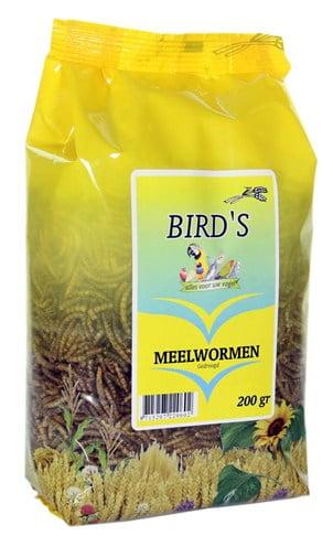 Birds meelwormen gedroogd
