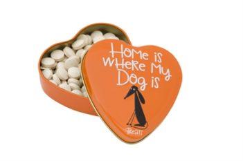 Sanal hartenblik home is where my dog is snoepjes