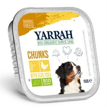 Yarrah dog alu brokjes kip / aloe vera in saus graanvrij