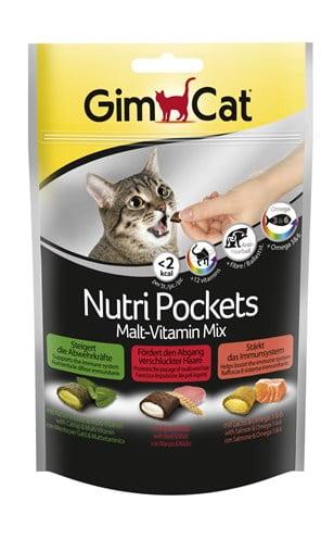 Gimcat nutri pockets malt-vitaminemix kattenkruid / multivitamine