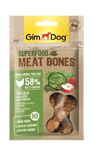 Gimdog superfood meat bones kip / appel / kool