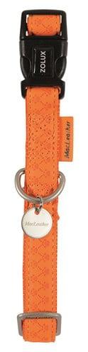 Macleather halsband oranje