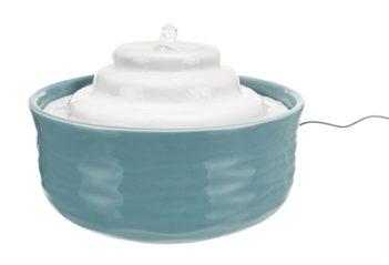 Trixie drinkfontein vital falls keramisch blauw / wit