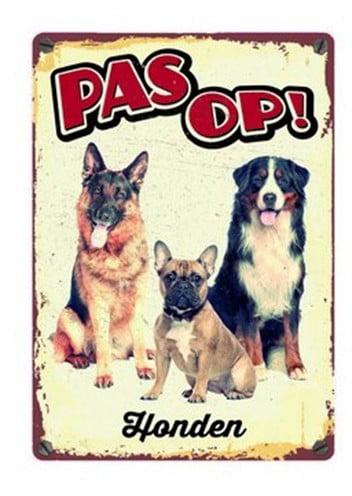Plenty gifts waakbord blik honden