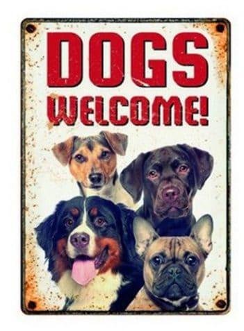 Plenty gifts waakbord blik dogs welcome