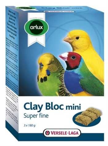 Orlux klei blok mini kanarie/parkiet/tropische vogels