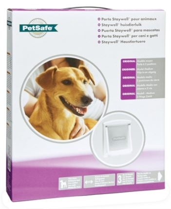 Petsafe hondenluikje medium wit/transparant