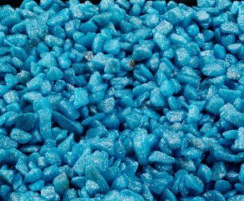 Aqua-della glamour steen indian blauw (6-9 MM 2KG)