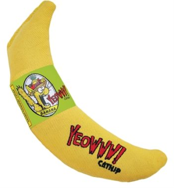 Yeowww banaan met catnip (18 cm)