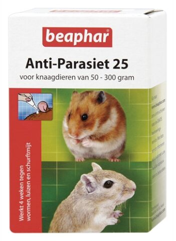 Beaphar anti-parasiet 25 knaagdier (2 pip)