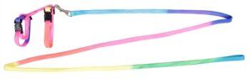 Karlie konijnentuig met lijn regenboog (10 mmx140 cm)