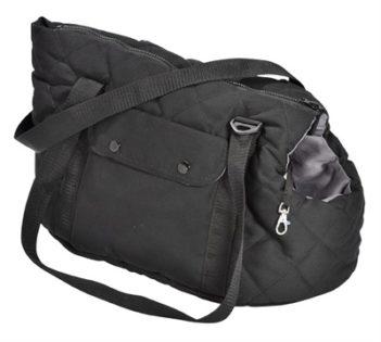 Bobby draagtas promenade zwart / grijs (40x23x23 cm)