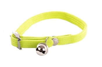 Halsband kat elastisch nylon groen (30×1 cm)