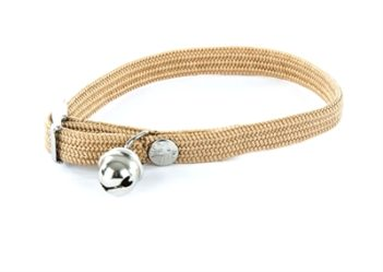 Halsband kat elastisch nylon beige (30×1 cm)