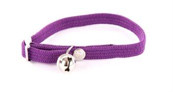 Halsband kat elastisch nylon paars (30×1 cm)