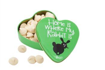 Sanal hartenblik home is where my rabbit is snoepjes (60 gr)