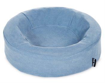 Bia bed cotton overtrek hondenmand blauw (bia-50r 50x50x12 cm rond)