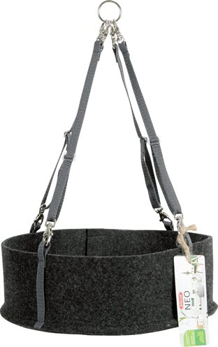 Zolux neo comfort hangmat knaagdier donkergrijs (28x28x9 cm)