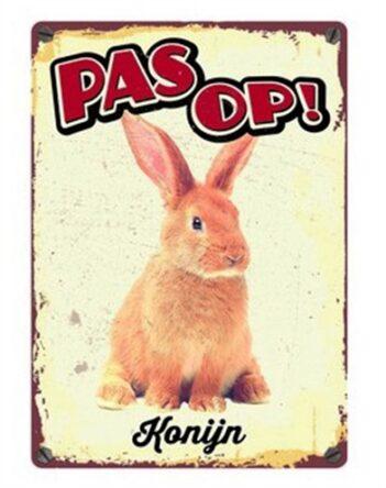 Plenty gifts waakbord blik konijn (15×21 cm)