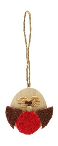 Cupid & comet roodborstje hout knaagspeelgoed (7,5x2x7 cm)
