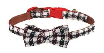 Croci halsband hond bordeaux braid (25×1 cm)