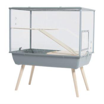 Zolux knaagdierkooi nevo palace plexiglas grijs (78x48x87,5 cm)
