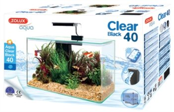 Zolux aquarium clear kit zwart (17 LTR 40X20X33 CM)