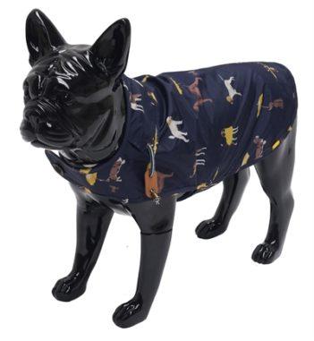 Joules hondenjas regenjas navy (35 cm)