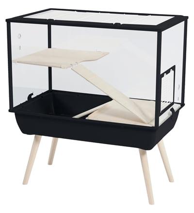 Zolux knaagdierkooi nevo palace plexiglas zwart (78x48x87,5 cm)