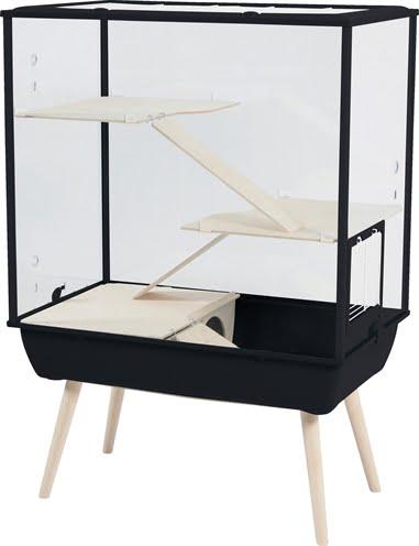 Zolux knaagdierkooi nevo royal plexiglas zwart (78x48x109 cm)