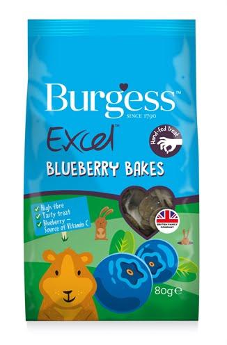 Burgess excel baked treats blauwe bes (80 gr)