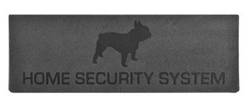 Deurmat relief home security system antraciet (74,5x26x0,8 cm)