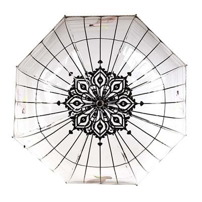 Paraplu vogelkooi transparant / zwart (81,5 cm)