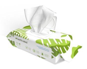 Earth rated dog wipes geurloos composteerbaar (20,5×20,5 cm 100 st)