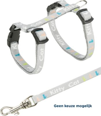 Trixie junior tuig kitten met riem kitty cat assorti (21-33×0,8 cm / 120 cm)