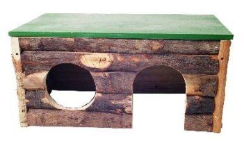 Blokhut hout (42x25x20 cm)