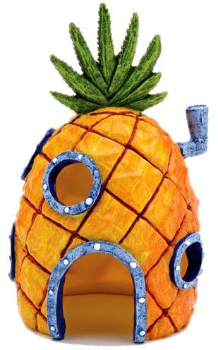 Ornament spongebob ananashuis oranje (15X9X8 CM)