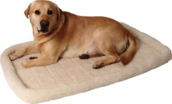 Ligmat voor bench / draadkooi comfort ivoor (55×35 cm)