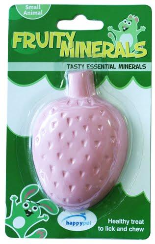 Happy pet fruity mineral aardbei (210 ml 9,5×6,5×2,5 cm)