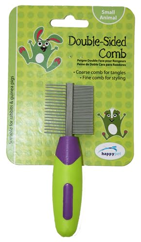 Happy pet knaagdier double sided comb (12x4x2 cm)