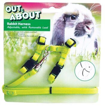 Happy pet konijnen harnas en looplijn groen (20-30 cm 25-40 cm)
