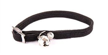 Halsband kat elastisch nylon zwart (30X1 CM)