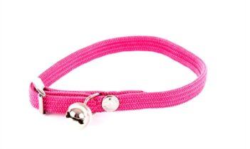 Halsband kat elastisch nylon roze (30X1 CM)